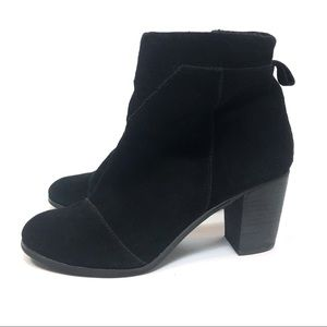 Toms Shoes - Toms Black Suede Ankle Bootie